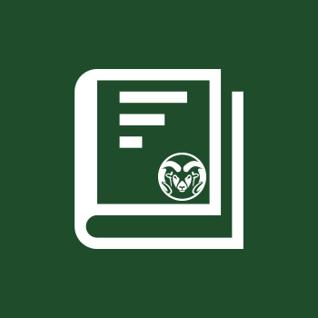 Book icon with Ram image on front - The CSU Bookstore is your on-campus source for your textbooks!