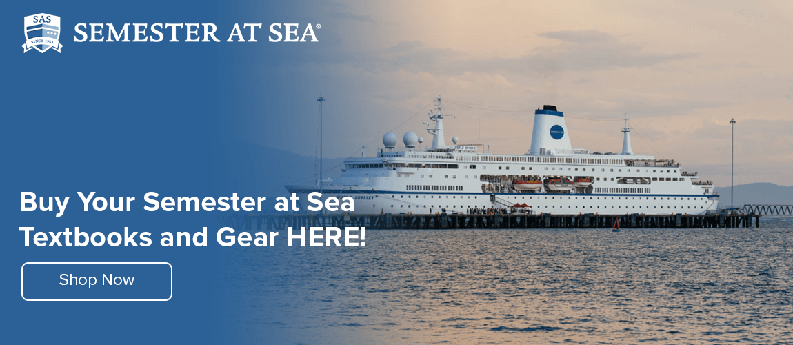 Get Your Semester at Sea Textbooks and Gear Here!