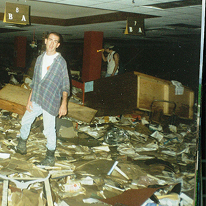 Flooding in 1997 destroys all our inventory weeks before classes begin