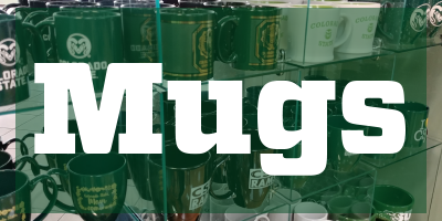 Image of mugs with text that reads Mugs