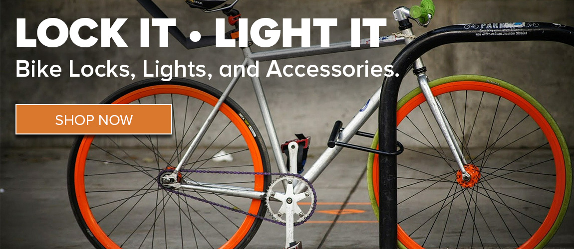 Lock It Up and Light It Up - Get your accessories for your bike from CSU Bookstore!