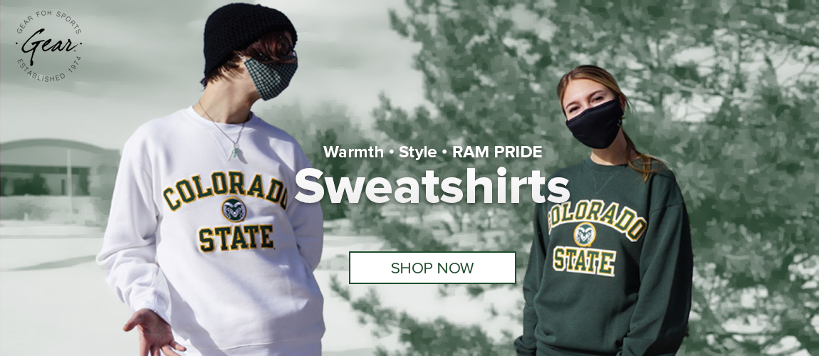 Text which Warmth - Style - RAM PRIDE - Sweatshirts with two people wearing sweatshirts.