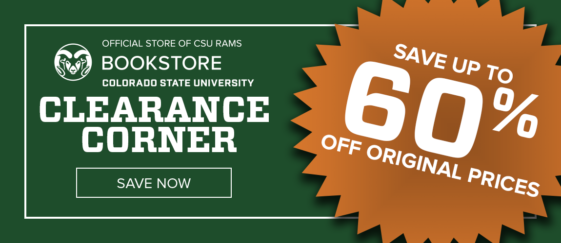 CSU Bookstore Clearance Corner - Save up to 60% Off Original Prices!