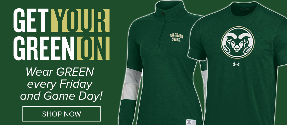 Get Your Green On Every Friday and Game Day! Shop our selection here!