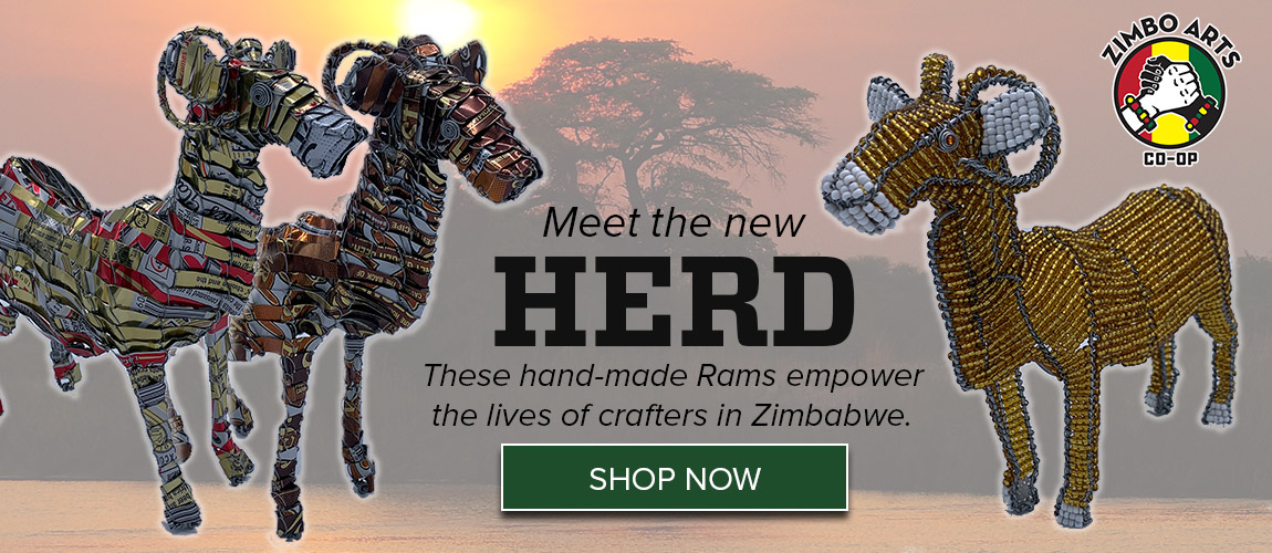 Meet the new Herd! These hand-made Rams empower the lives of crafters in Zimbabwe!