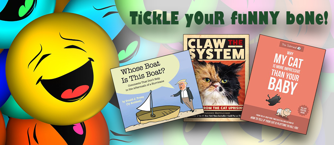 Tickle your funny bone with humor titles at the CSU Bookstore!