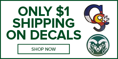 Decals ship for $1 at CSU Bookstore! Shop Now!
