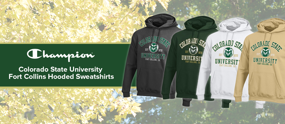 A CSU Student Favorite! Get your CSU Rams Champion hoodies from CSU Bookstore!