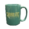 Dark Green Colorado State University Ram Head Mug