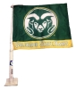 Green/Yellow Colorado State University Rams Car Flag