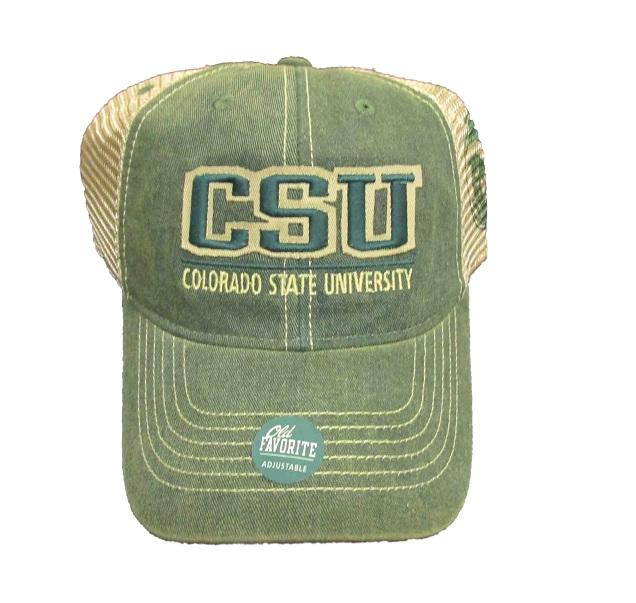 Green CSU Colorado State University Legacy Trucker Hat