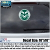Large Green/White Ram Head Colorado State University Decal