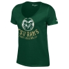 Green Distressed Colorado State Rams V-Neck Champion Tee