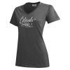 Grey Colorado State University Script V-Neck Gear Tee
