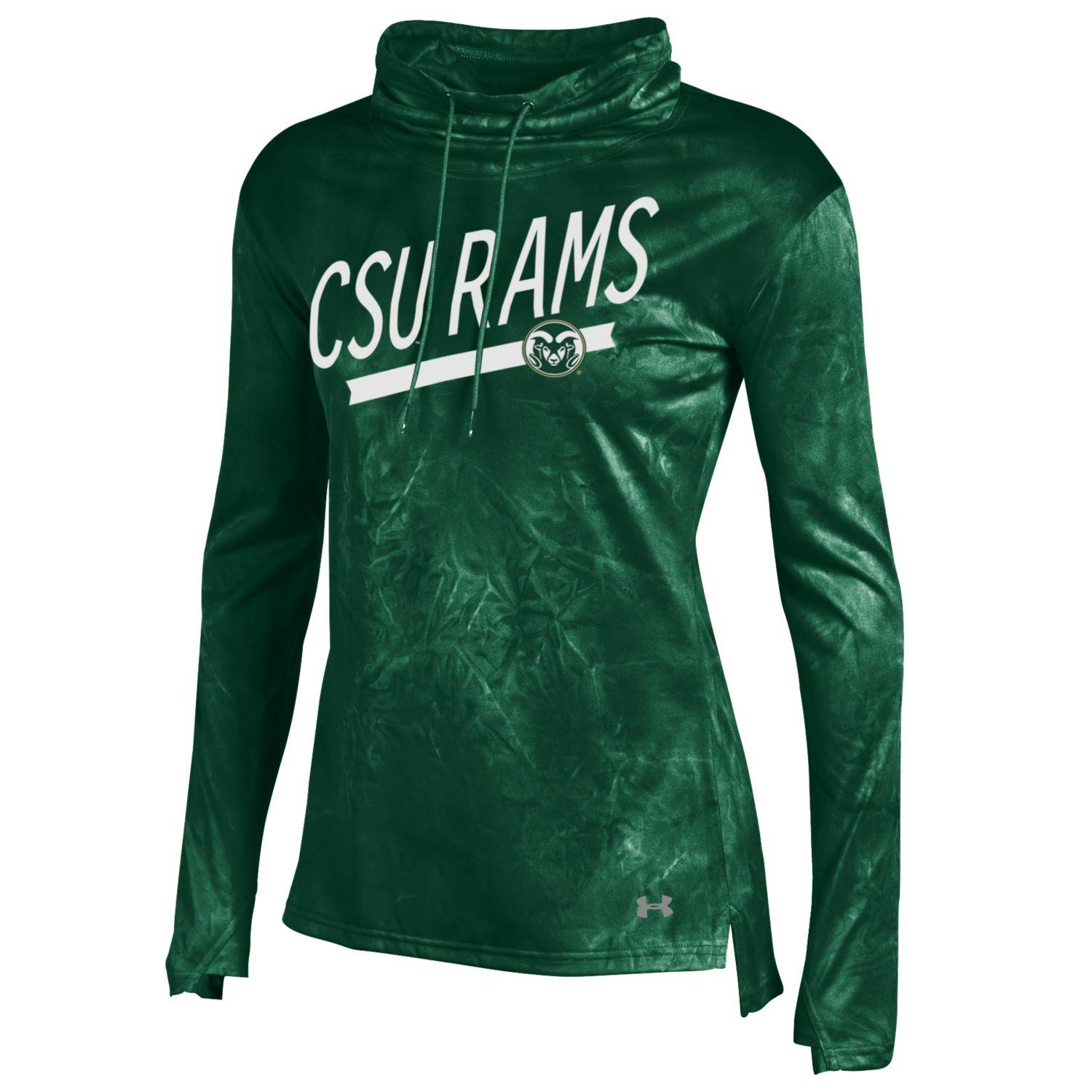 Forest Green Colorado State Under Armour LS Cowl Neck
