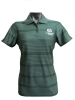 Women's Green Colorado State Stripe Antigua Polo thumbnail