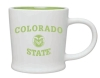 White/Lime Colorado State 12 oz Mug