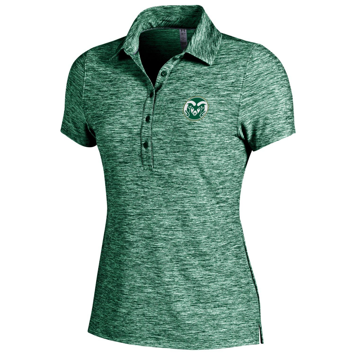 Green Colorado State University Women's Under Armour Polo