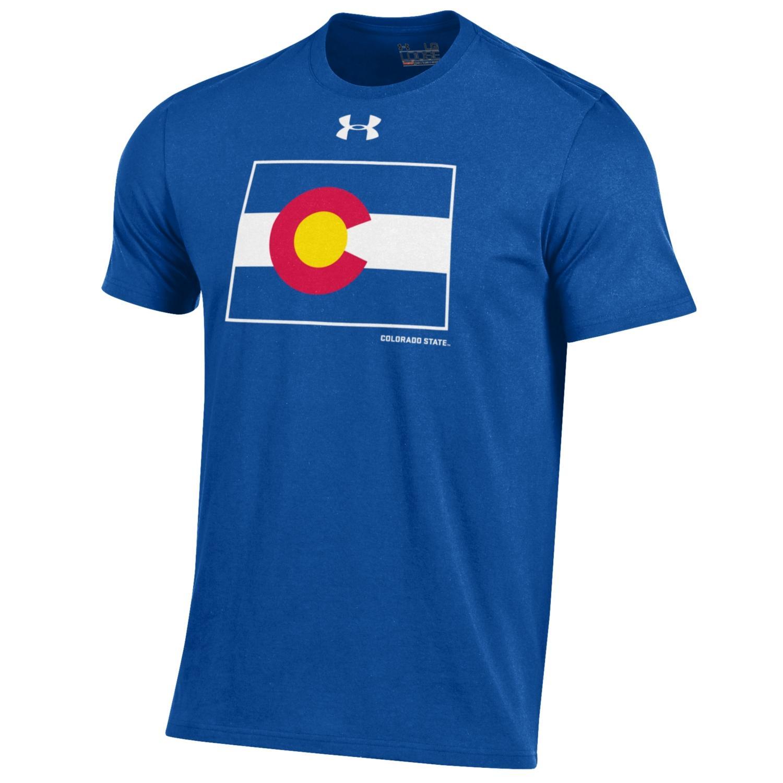 Men's Royal Blue Colorado State Pride Flag Under Armour Tee