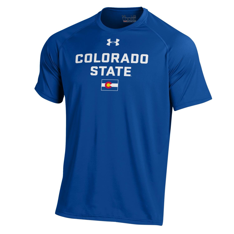 Men's Royal Blue Colorado State Pride Under Armour Tee