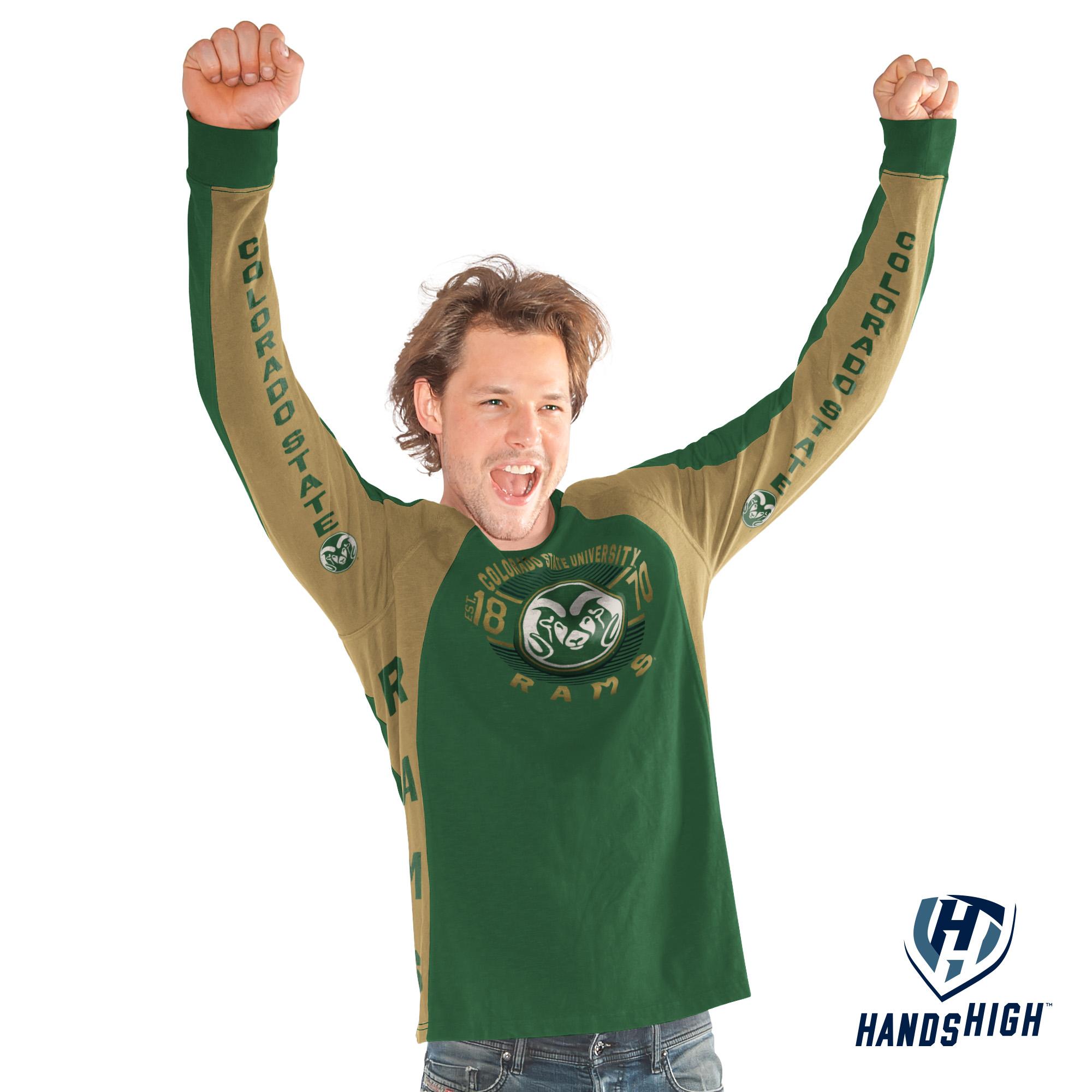 CSU Men's Green Switch Hitter Long Sleeve Tee