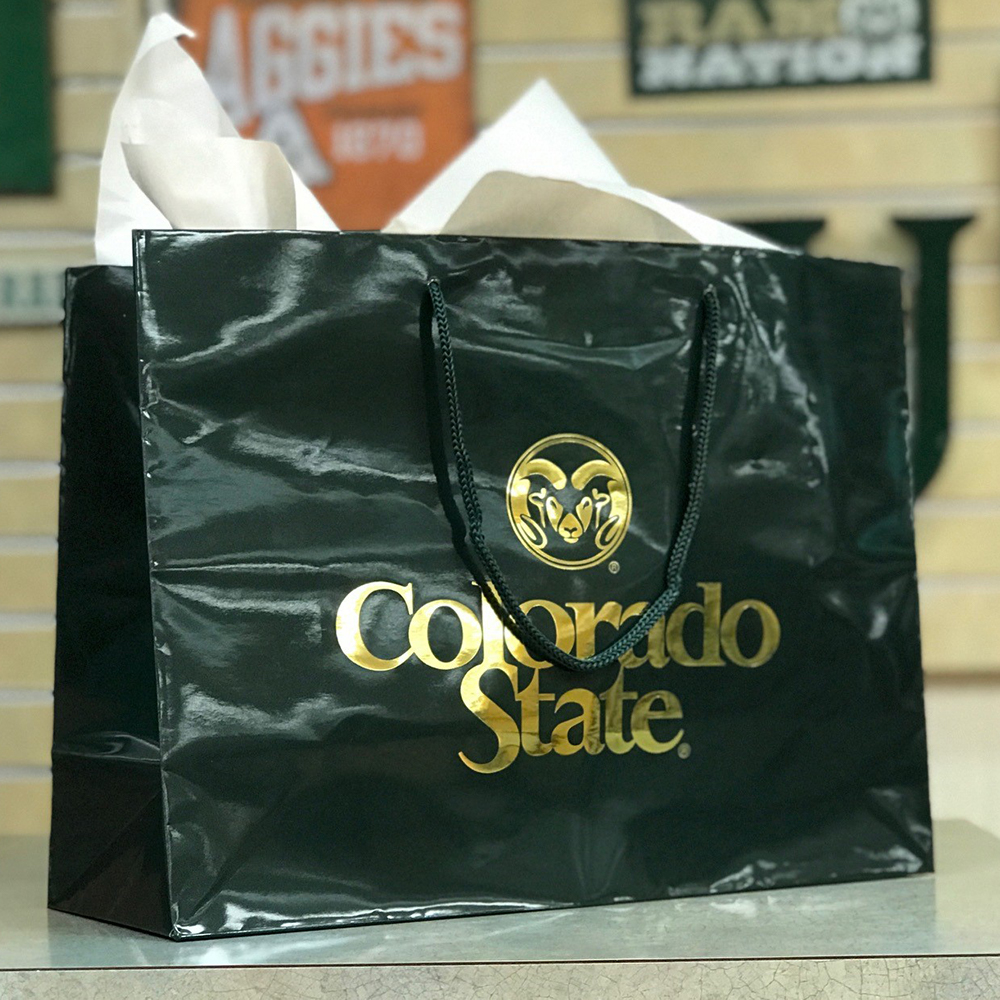 Large Green Colorado State University Gift Tote Bag