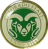 Colorado State University Ram Head Lapel Pin