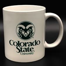 White Official Colorado State University Logo Mug