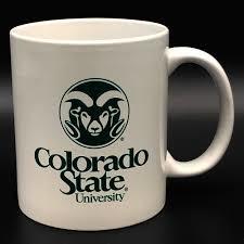 White Official Colorado State University Logo Mug
