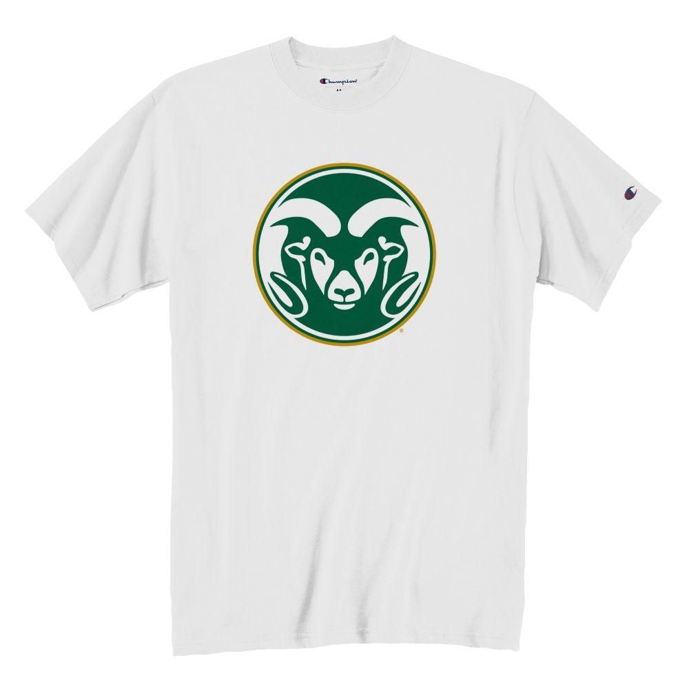 Image For Champion® Large Ramhead Colorado State White Tee