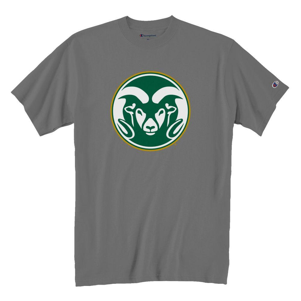 Image For Champion® Large Ram Head Colorado State Granite Tee