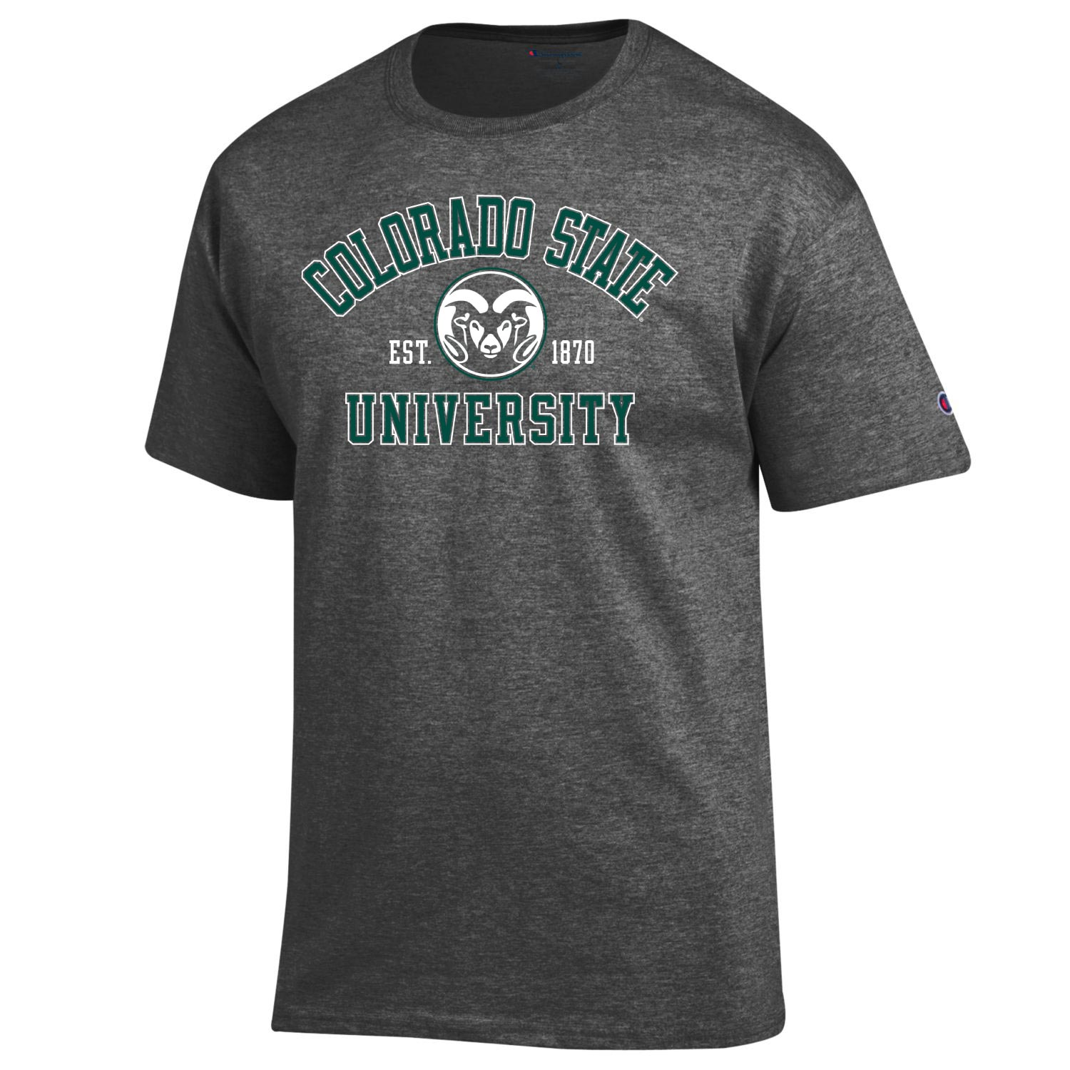 Image For Grey Heather Colorado State Basic Champion Tee