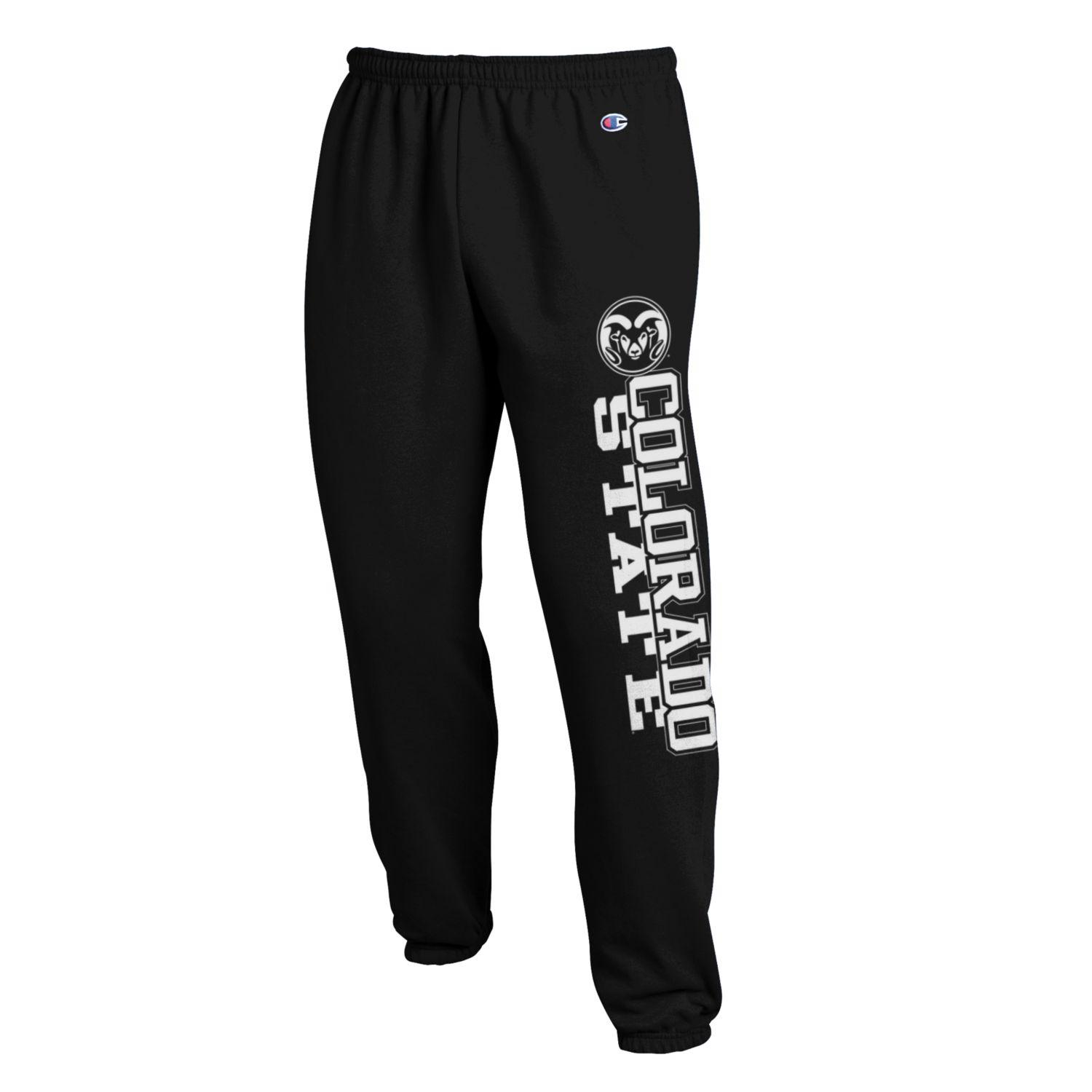 Image For Black Colorado State University Sweatpants by Champion