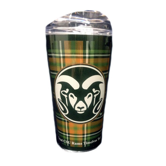 Cover Image For 16 OZ Colorado State University Tartan Tumbler