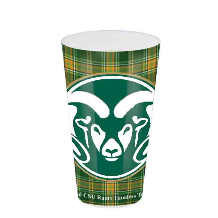 Cover Image For Colorado State University Tartan Glass