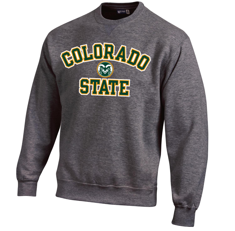 ad70f6f0235 Charcoal Big Cotton Colorado State University Sweatshirt