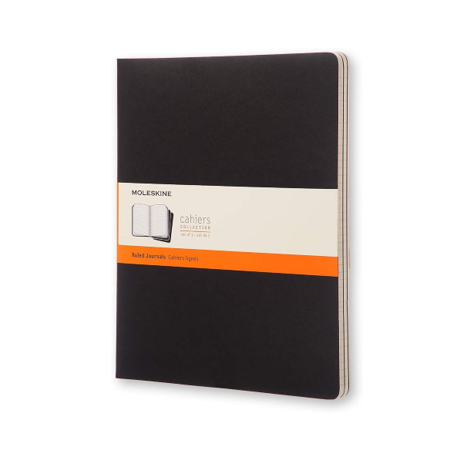 Image For Moleskine Black Ruled Journals 3 Pack