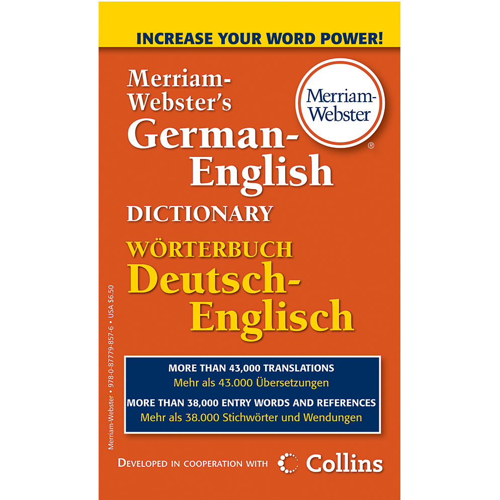 Image For German-English Dictionary by Merriam Webster
