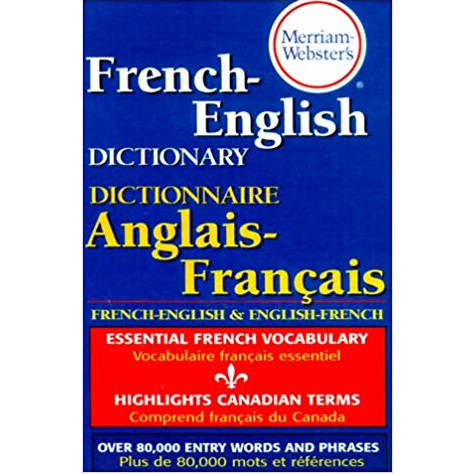 Cover Image For French-English Dictionary by Merriam Webster