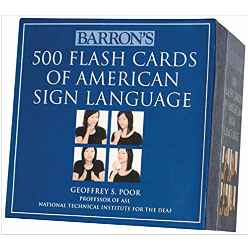 Image For Barron's 500 Flash Cards of ASL