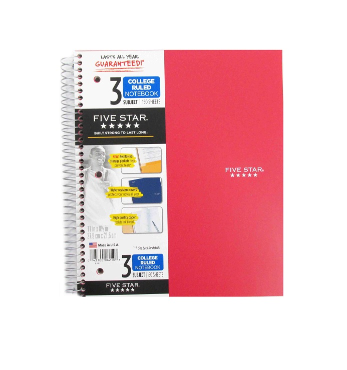 Image For 3 Subject Notebook
