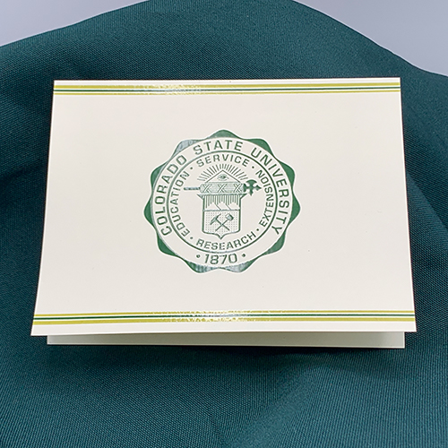 Image For Colorado State University Seal Notes and Envelopes (10 Pack)