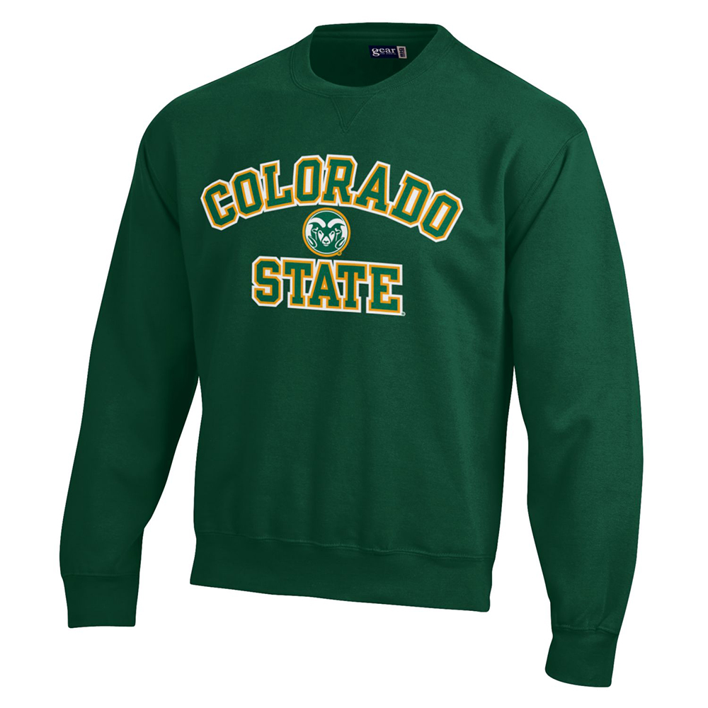 Image For Green Colorado State with Ram Head Sweatshirt by Gear