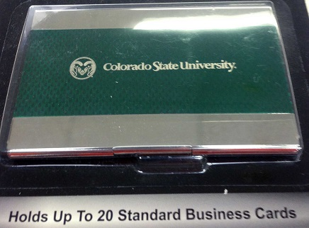 Cover Image For Laser Engraved Colorado State University Card Holder