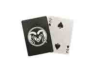 Image For Green Colorado State University Ram Head Playing Cards