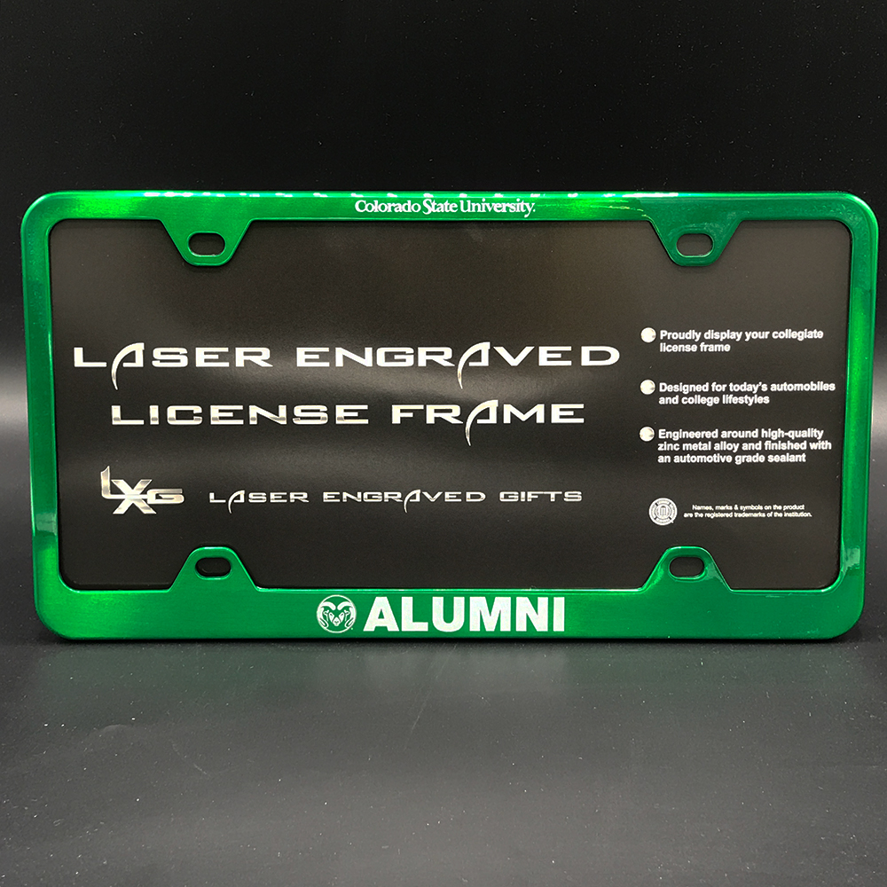 Image For Alumni Colorado State University License Plate Frame