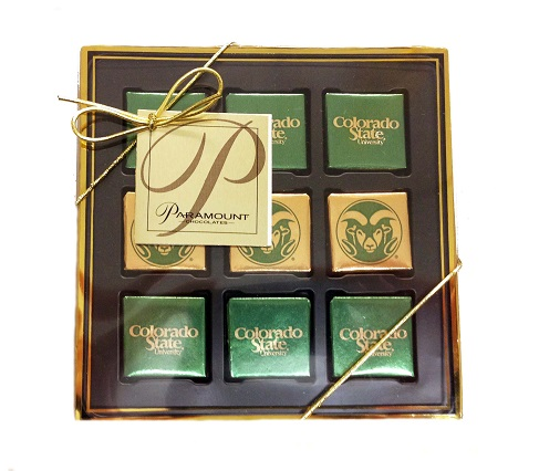 Cover Image For Colorado State Universtiy Box of 9 Chocolates