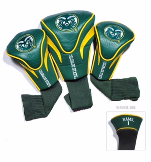 Image For Colorado State University 3 Pack Golf Club Headcovers