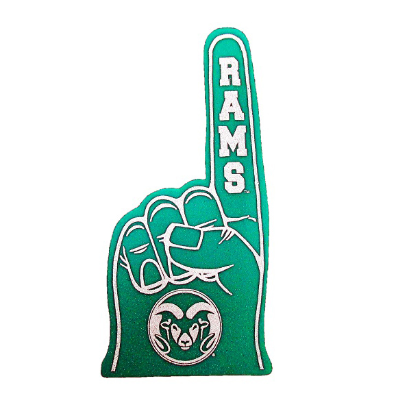 Image For Colorado State University Rams Green Foam Hand