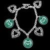 Image for 7 Charm Colorado State University Bracelet